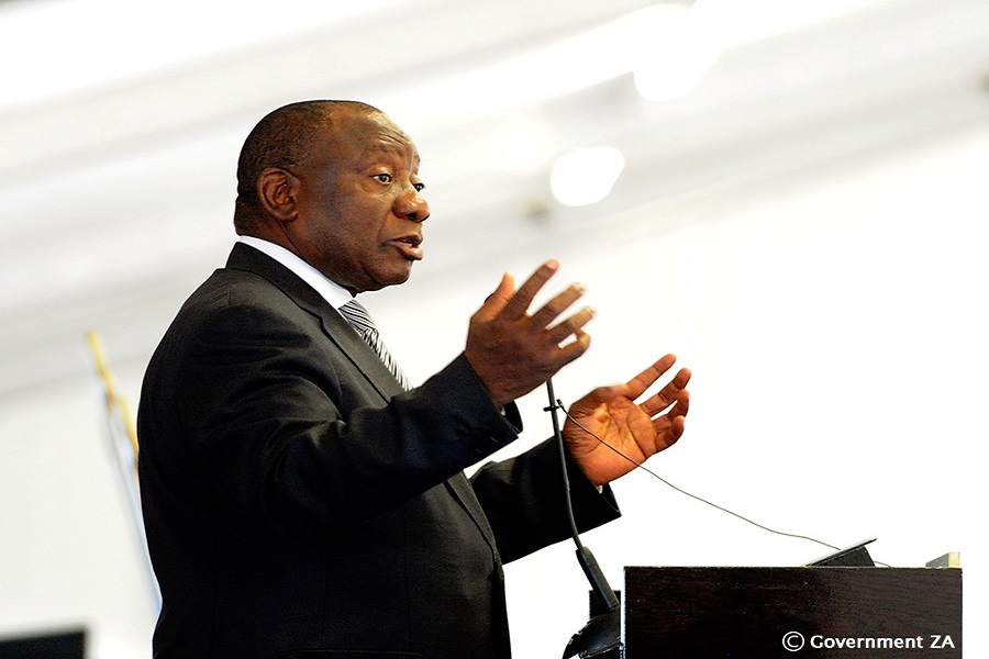 President Cyril Ramaphosa addressing the launch event of the Special Economic Zone (SEZ) at the Robinvale Stadium in Atlantis, Western Cape Province.     The SEZ is designated for the manufacture of green technologies, alternative waste management, energy efficient technology, alternative building material and many other clean technologies. This development will also allow the people of Atlantis to become involved in economic opportunities right on their doorsteps, and play an integral part in growing their economy. 06/12/2018. Siyabulela Duda